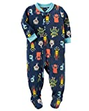 Carters Baby Boys 1-Piece Fleece Pajamas (8, Colorful Monsters)