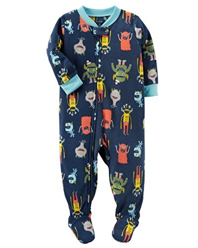 Carters Baby Boys 1-Piece Fleece Pajamas (8, Colorful Monsters) by Carter's