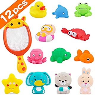 PETPLUS Bathtub Toys (12 Pcs) Baby Bath Toys for Baby Boys Toddlers 1-3 Years Old as Preschool Bath Toys