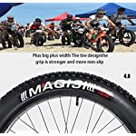 AISHFP-Mens-24-Pollici-Fat-Tire-Mountain-Bike-Biciclette-Spiaggia-Neve-Doppio-Freno-a-Disco-Cruiser-Biciclette-Leggere-ad-Alta-Acciaio-al-Carbonio-Telaio