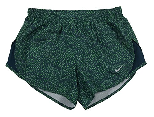 Nike Womens Dri-Fit Allover Print Tempo Running Shorts Green (m)