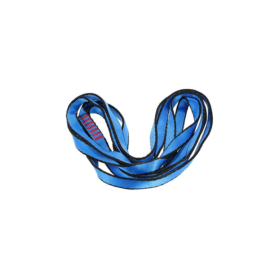 Docooler 23KN 16mm 150cm/4.9ft Rope Runner Webbing Sling Flat Strap Belt for Mountaineering Rock Climbing Caving Rappelling Rescue Engineering