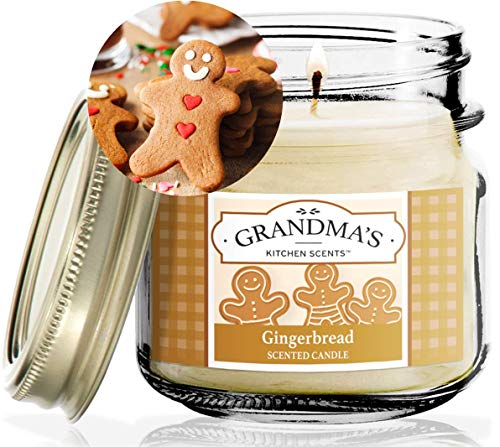Gingerbread Scented Soy Candles | 8 oz Jar | Hand Made in The USA | Delicious Scent | Extra Clean Burning and Long-Lasting Soy Candle