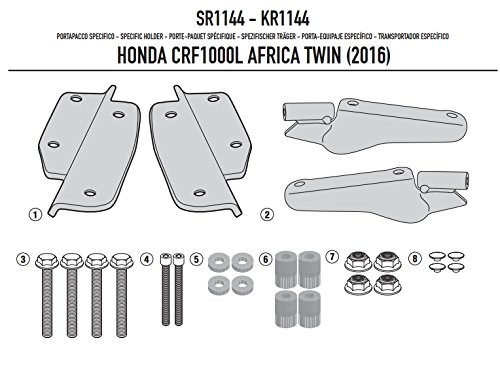 16-17 HONDA CRF1000L: Givi Top Case Special Rack Mounting Kit (Monokey)