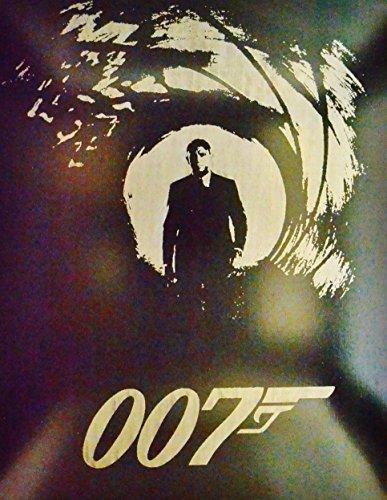 James Bond Metal Poster 007 Spectre Movie Painting Spray Paint Daniel Craig by Art of Steel