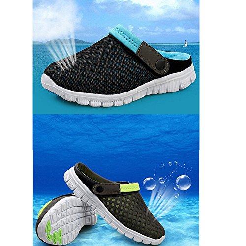 Eagsouni® Unisex Damen Herren Hausschuhe Muffin unten alltägliche Drag Hausschuhe Beach Schuhe Sommer,Gr.36-46 Grün
