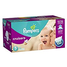 Pampers Cruisers Diapers Economy Plus Pack, Size 5, 132 Count by Pampers