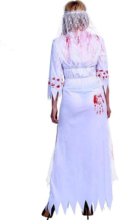 DESHOME Disfraz de Novia Zombie, Vestido de Rendimiento para ...
