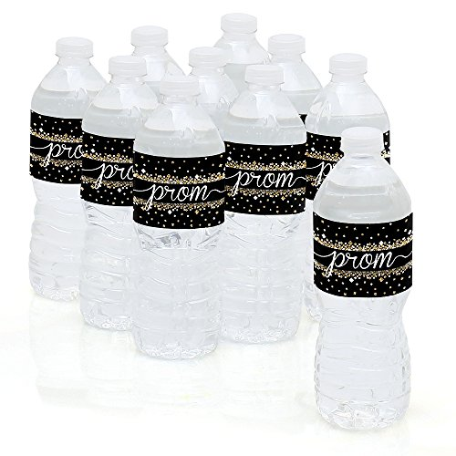 Prom - Prom Night Party Water Bottle Sticker Labels - Set of 10