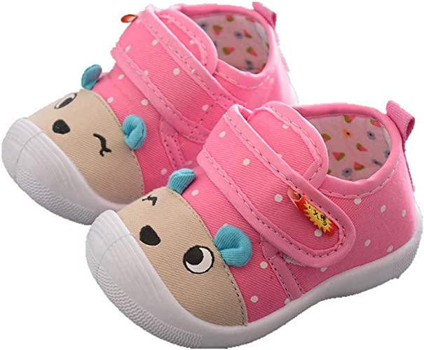 *NEW* Girl/'s Toddler Light Pink Canvas Style Squeaky Shoes Sizes 3 to 7 Only!