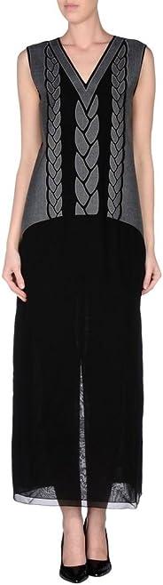 Viktor & Rolf Women's Black/Grey Silk Full-Length Maxi Dress