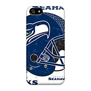 Scratch Resistant Hard Phone Case For Iphone 5/5s With Support Your Personal Customized Lifelike Seattle Seahawks Image JasonPelletier