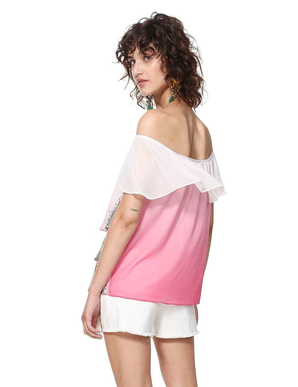 Desigual Blouse Sleeveless Alyssa Woman Pink Blusa Donna