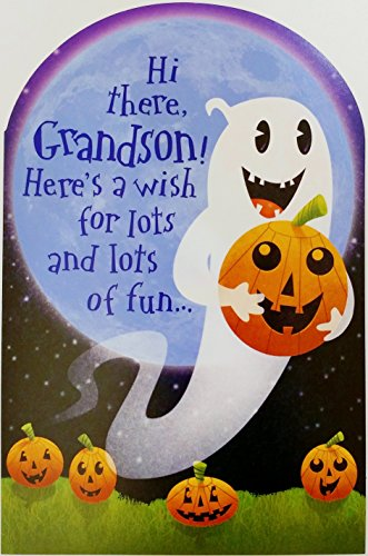 Here's a wish for lots of fun GRANDSON Happy Halloween Greeting Card