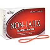 """Alliance Non-Latex Rubber Bands, #33 - Size: #33 - 3.5"""" Length x 0.13"""" Width - Non-Latex - 1 lb. Box - Orange"""