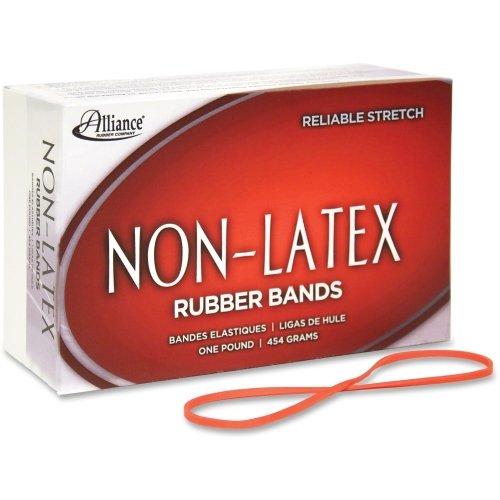 "Alliance Rubber Company Rubber Bands, Latex-free,3-1/2""x1/16"" No.19, Orange, 1440/BX"