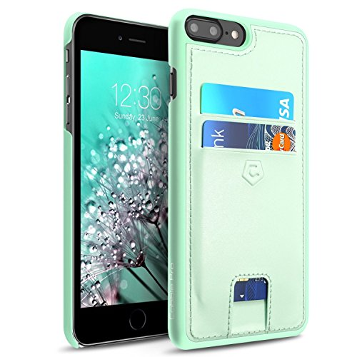 Cobble Pro Premium Handcrafted Leather Textured Back Cover with Easy Access Slot ID Credit Card Slot Holder Compatible with Apple iPhone 8 Plus / 7 Plus (5.5
