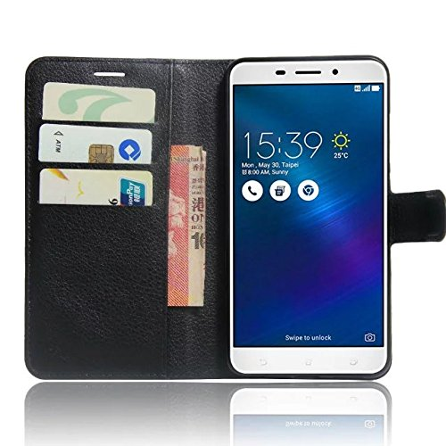 OFU® Para Asus Zenfone 3 Max ZC520TL Funda,Dual Layer PC And TPU Hybrid Card Carry Pocket Wallet Slot,Cartera Cuero Funda de Piel Wallet Case para Asus Zenfone 3 Max ZC520TL Carcasa Flip Case Cover co