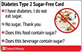 Diabetes Type 2 Sugar-Free Translation Card - Translated in Hungarian or any of 12 languages