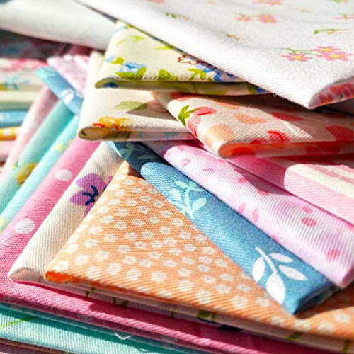 flic-flac 50pcs 8 x 8 inches (20cmx20cm) Cotton Fabric for sale  Delivered anywhere in USA