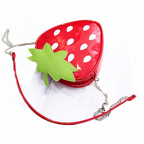 Strap Purse Yocome Bag Handbag Novelty Shape Messenger Chain Crossbody Strawberry Shoulder FwPFq807