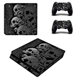 SKINOWN PS4 S Slim Skins Dark Grey Skull Sticker Vinly Decal Cover for Sony PS4 PlayStation 4 Console and Controller Review