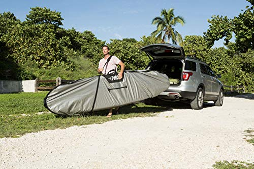 (Pelican Boats - Stand-Up Paddleboard Bag - PS1458 - Deluxe Travel Carry Bag - Heavy Duty Carrier & Cover - Paddle Storage - Fits Most SUPs, Grey )
