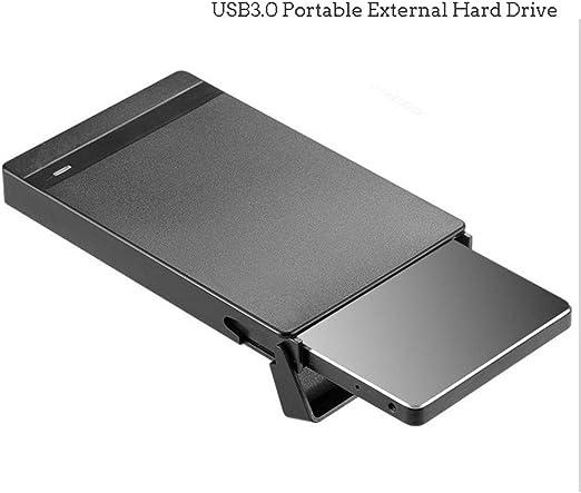 QLPP Ultra Delgado USB 3.0 Disco Duro Externo portátil, Superficie ...