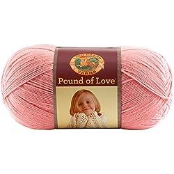 Lion Brand Yarn 550-103 Pound of Love Yarn, Pink