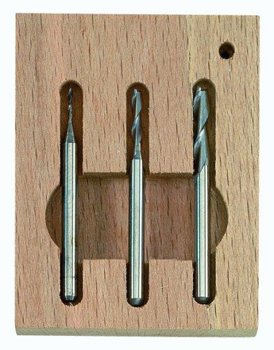 Proxxon 27116 Vollhartmetall-Schaftfräsersatz, 3tlg. (1 - 2 - 3 mm)