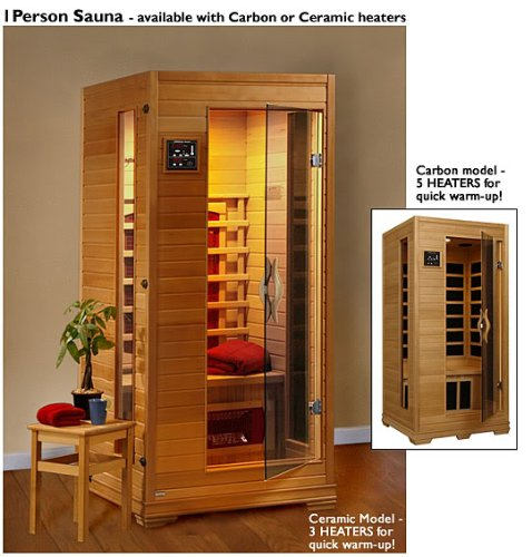 1-2 Person Infrared Sauna With Carbon Heaters