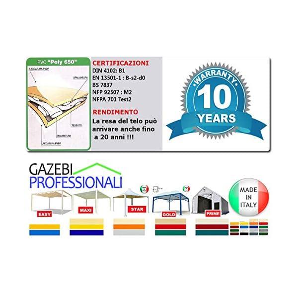 MadeluX Gazebo 6x6 Professionale Certificato e Personalizzabile Stand Eventi Pagoda ignifugo Padiglione pergola tettoia… 4 spesavip