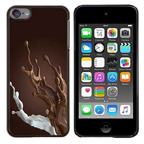 (Dragon Case - FOR Apple iPod Touch 6 6th Generation - brown chocolate milk breakfast sweet - Design Hard Plastic Protective Case Slim Fit Cover)