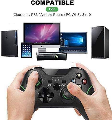 Yosikr Wireless Controller for Xbox One S/X/Elite, Windows 7/8/10, Android Phone, PS3 (Black- Green)