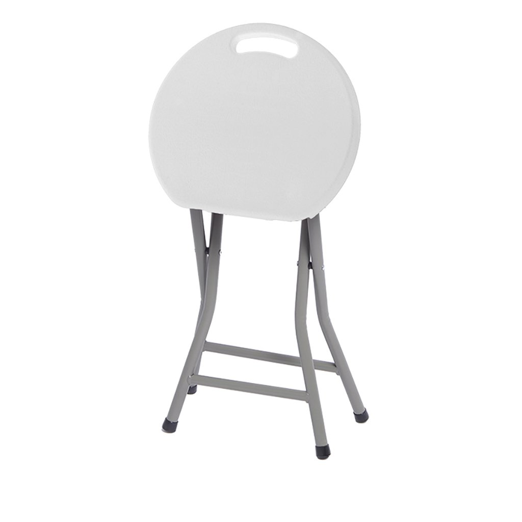Fly Bathroom Stool, Non-Slip - Household Folding Chair Stool Portable Outdoor Seat Plastic 3 Colors (Color : White, Size : S)