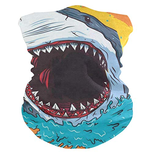 Cartoon Shark Balaclava Womens Headband Scarf Mens Bandana,Muffler,Neck Gaiter,Magic,Headwrap Sweatband