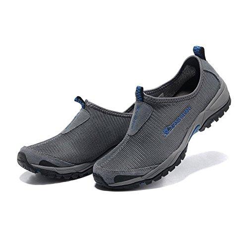 grigio Uomo outdoor A Grigio slip Guannew Basso fashion Collo sport breathable Style Xiang on 7XOP8q7c