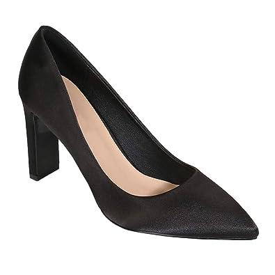 f7e12170c91 Yudesun Womens Court Shoes - Women Thick Heel Classic High Heels Pumps  Closed Toe Party Dress