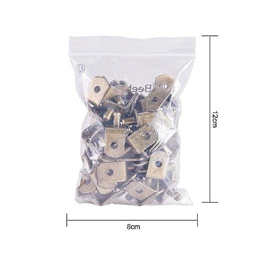 forma de L INCREWAY Pinzas de soporte para estante de armario con agujero 50 unidades