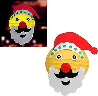 dise/ño de copo de nieve Uonlytech color rojo Rojo Farolillos de papel para decoraci/ón de Navidad 5 unidades, 30,5 cm Talla 1 Papel y alambre de acero.