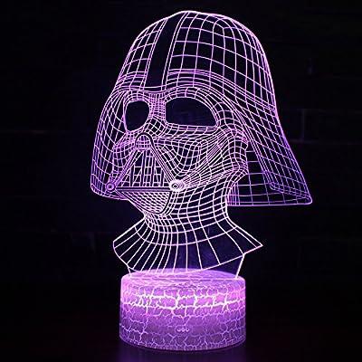 3d 7 Led Illusion Lamp Cabledarth Optical Colors Light Usb With Vader Desk Night Smart mNO0wPvny8