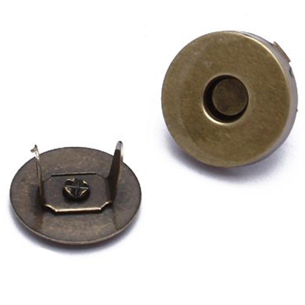 20 Kit Bottoni Magnetici Rotondo in Ferro Bronzato per DIY Cucito Mestiere compreshow