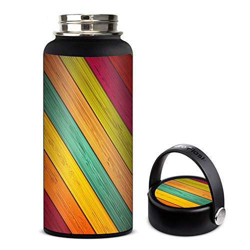 Skin Decal Vinyl Wrap for Hydro Flask 32oz Wide Mouth stickers skins cover/Color Wood Planks by IT'S A SKIN (Image #2)
