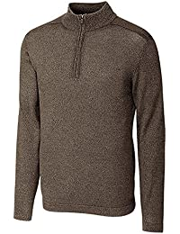 Men's Henry Marled Merino Wool Blend Long Sleeve Half Zip Sweater