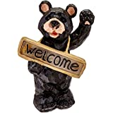 Smart Solar 3569ARM1 Welcome Bear Solar Accent Light, Powered By Discreet Integral Solar Panel For Up To 8 Hours Of Light Each Night, Requires No Wiring or Operating Costs