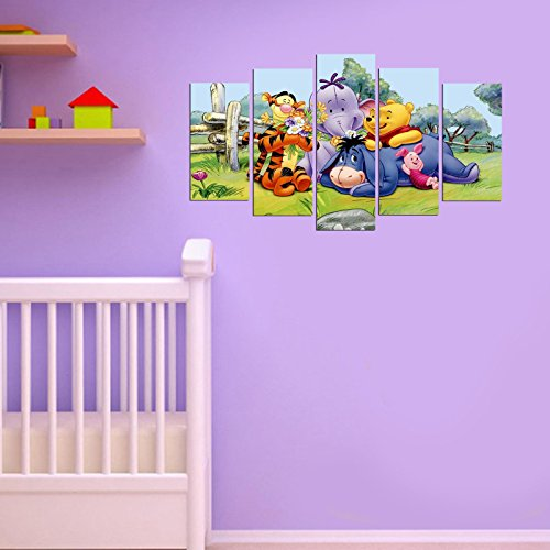 - LaModaHome Best Chosen Wall Arts, Stickers and Metal Wall Sculptures (Wall Art, Winnie The Pooh, Happy Cute Bear)