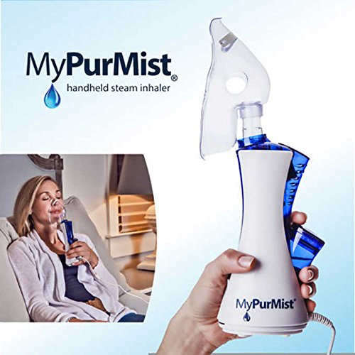 MyPurMist Handheld Steam Inhaler, Includes Steam Inhaler, 3 Adult Masks, 2 Scent Pads, 1 Hands Free Strap by MyPurMist