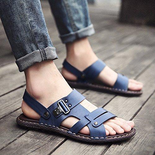 Homens Sandália Do Sapato Novo Verão Deslizamento Portátil De Dupla Utilização Praia Flip Flops Tendência, Blue1, Nós = 8,5, Uk = 8, Eu = 42 Cn = 43