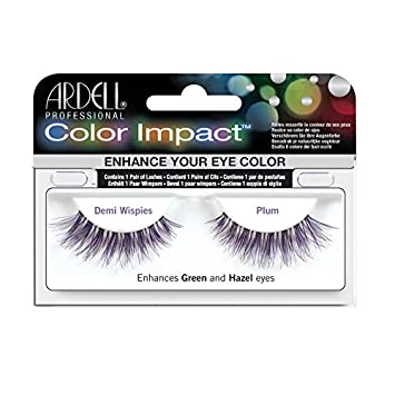 b9f854bd4a1 Amazon.com : Ardell Color Impact Lashes, Demi Wispies Plum : Fake Eyelashes  And Adhesives : Beauty