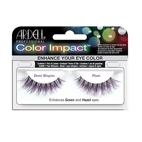 Ardell Color Impact Demi Wispies Plum Lashes, 1-Count